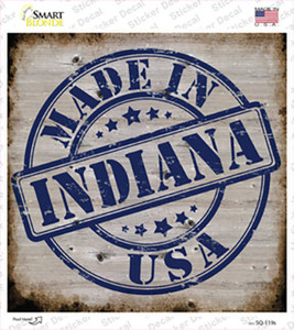 Indiana Stamp On Wood Wholesale Novelty Square Sticker Decal