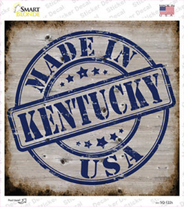 Kentucky Stamp On Wood Wholesale Novelty Square Sticker Decal