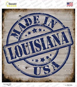 Louisiana Stamp On Wood Wholesale Novelty Square Sticker Decal