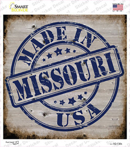 Missouri Stamp On Wood Wholesale Novelty Square Sticker Decal