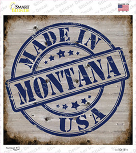 Montana Stamp On Wood Wholesale Novelty Square Sticker Decal