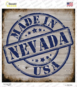 Nevada Stamp On Wood Wholesale Novelty Square Sticker Decal