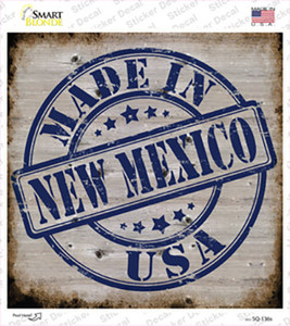 New Mexico Stamp On Wood Wholesale Novelty Square Sticker Decal