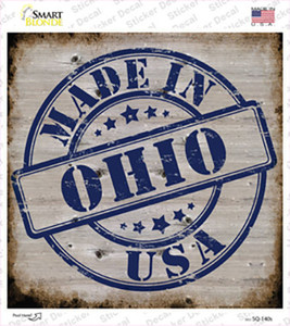 Ohio Stamp On Wood Wholesale Novelty Square Sticker Decal