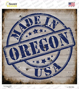Oregon Stamp On Wood Wholesale Novelty Square Sticker Decal
