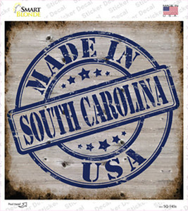 South Carolina Stamp On Wood Wholesale Novelty Square Sticker Decal