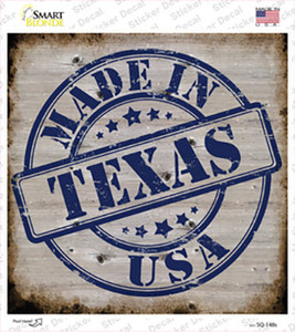 Texas Stamp On Wood Wholesale Novelty Square Sticker Decal