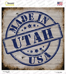 Utah Stamp On Wood Wholesale Novelty Square Sticker Decal