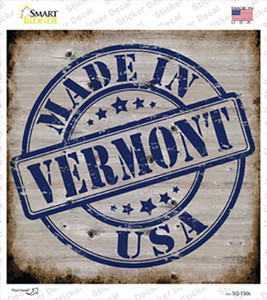 Vermont Stamp On Wood Wholesale Novelty Square Sticker Decal