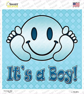 Its A Boy Wholesale Novelty Square Sticker Decal