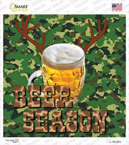 Beer Season Wholesale Novelty Square Sticker Decal