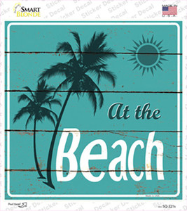 At The Beach Wholesale Novelty Square Sticker Decal