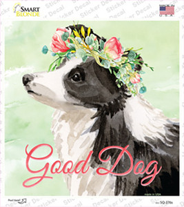 Border Collie Good Dog Wholesale Novelty Square Sticker Decal