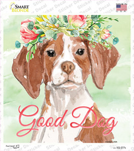 Brittany Good Dog Wholesale Novelty Square Sticker Decal