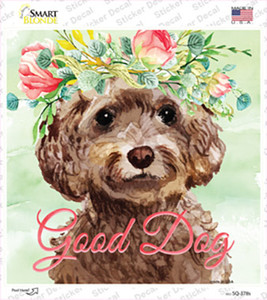 Cockapoo Good Dog Wholesale Novelty Square Sticker Decal