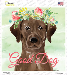 Brown Lab Good Dog Wholesale Novelty Square Sticker Decal