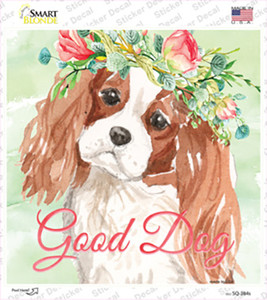 King Charles Spaniel Good Dog Wholesale Novelty Square Sticker Decal