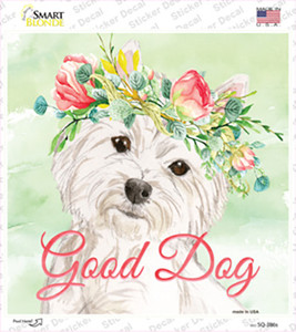 Westie Good Dog Wholesale Novelty Square Sticker Decal