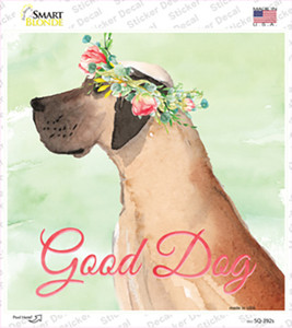 Great Dane Good Dog Wholesale Novelty Square Sticker Decal
