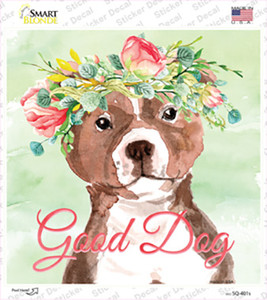 Bull Terrier Good Dog Wholesale Novelty Square Sticker Decal