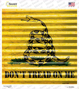 Dont Tread On Me Wholesale Novelty Square Sticker Decal