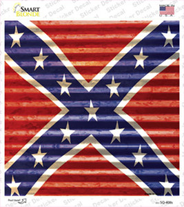 Confederate Flag Wholesale Novelty Square Sticker Decal
