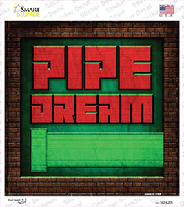 Pipe Dream Wholesale Novelty Square Sticker Decal