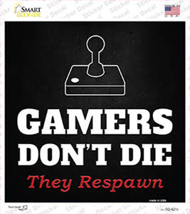 Atari Gamers Dont Die Wholesale Novelty Square Sticker Decal