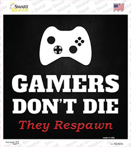 XBOX Gamers Dont Die Wholesale Novelty Square Sticker Decal