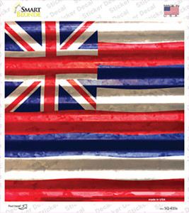 Hawaii Flag Corrugated Effect Wholesale Novelty Square Sticker Decal