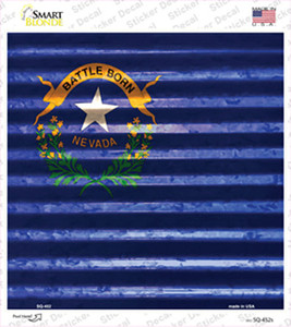 Nevada Flag Corrugated Effect Wholesale Novelty Square Sticker Decal