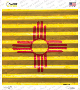 New Mexico Flag Corrugated Effect Wholesale Novelty Square Sticker Decal