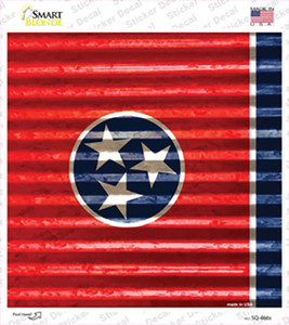 Tennessee Flag Corrugated Effect Wholesale Novelty Square Sticker Decal