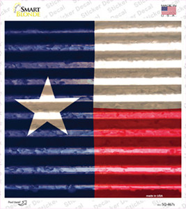 Texas Flag Corrugated Effect Wholesale Novelty Square Sticker Decal