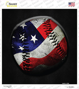 American Baseball Wholesale Novelty Square Sticker Decal