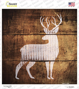 Deer Painted Stencil Wholesale Novelty Square Sticker Decal