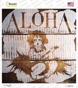 Aloha Painted Stencil Wholesale Novelty Square Sticker Decal