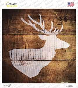 Deer Head Painted Stencil Wholesale Novelty Square Sticker Decal