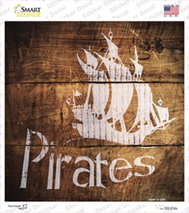 Pirates Painted Stencil Wholesale Novelty Square Sticker Decal