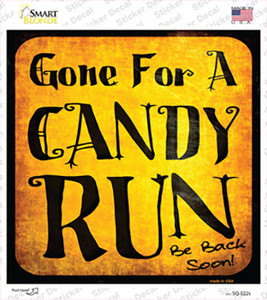 Candy Run Wholesale Novelty Square Sticker Decal