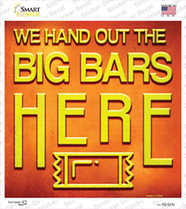 Big Bars Here Wholesale Novelty Square Sticker Decal