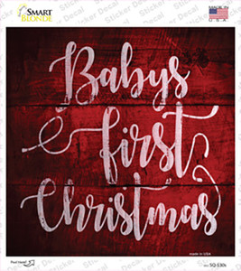 Babys First Christmas Wholesale Novelty Square Sticker Decal