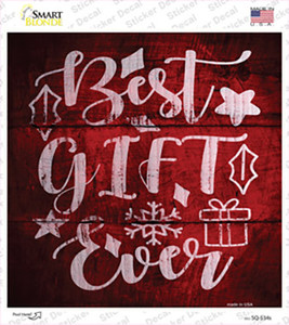 Best Gift Ever Wholesale Novelty Square Sticker Decal