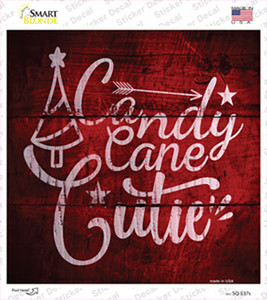 Candy Cane Cutie Wholesale Novelty Square Sticker Decal