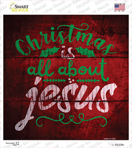 All About Jesus Wholesale Novelty Square Sticker Decal