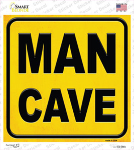 Man Cave Wholesale Novelty Square Sticker Decal