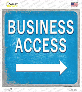 Business Access Right Wholesale Novelty Square Sticker Decal