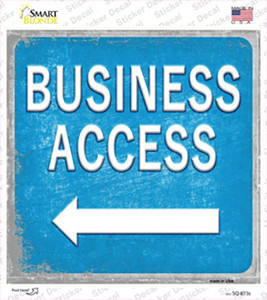 Business Access Left Wholesale Novelty Square Sticker Decal