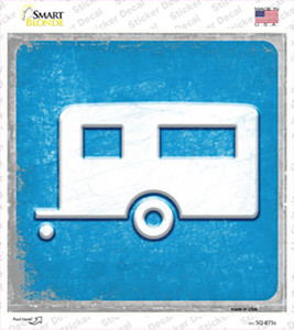 Camper Wholesale Novelty Square Sticker Decal