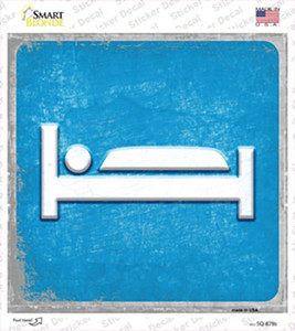 Bed Wholesale Novelty Square Sticker Decal